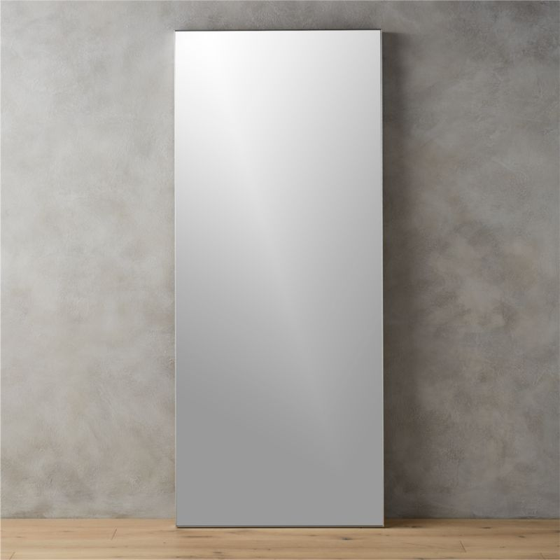Infinity 32 x76 floor mirror in mirrors reviews cb2 for Thin wall mirror