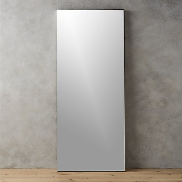 Infinity 32 x76 floor mirror cb2 for Thin wall mirror
