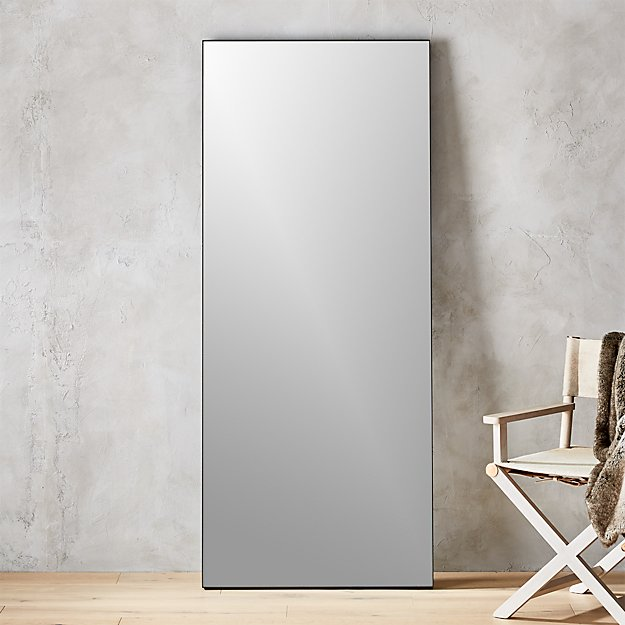 "Infinity Black Floor Mirror 32""x76"""