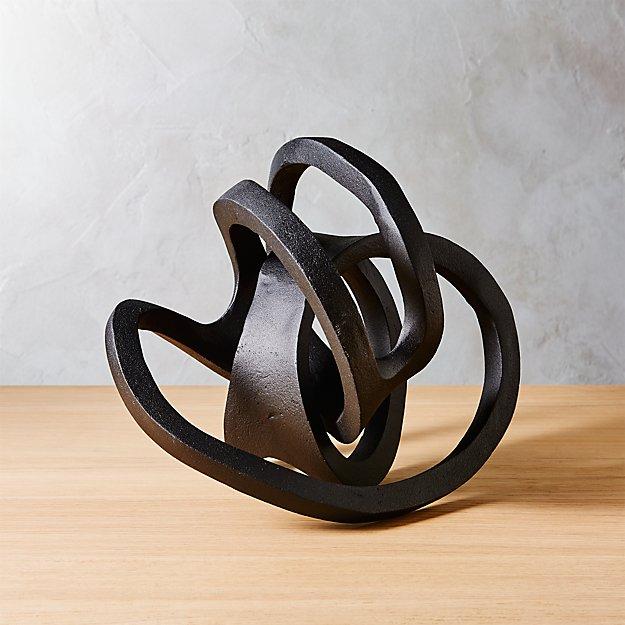 Infinity Black Knot Sculpture