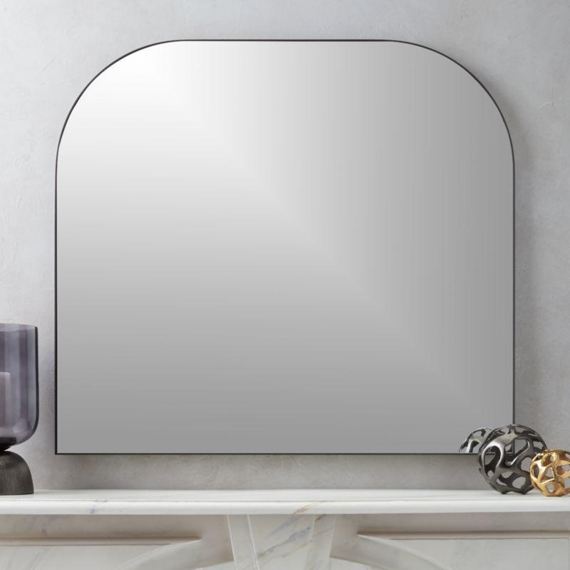 infinity black mantel mirror - Modern Mirrors