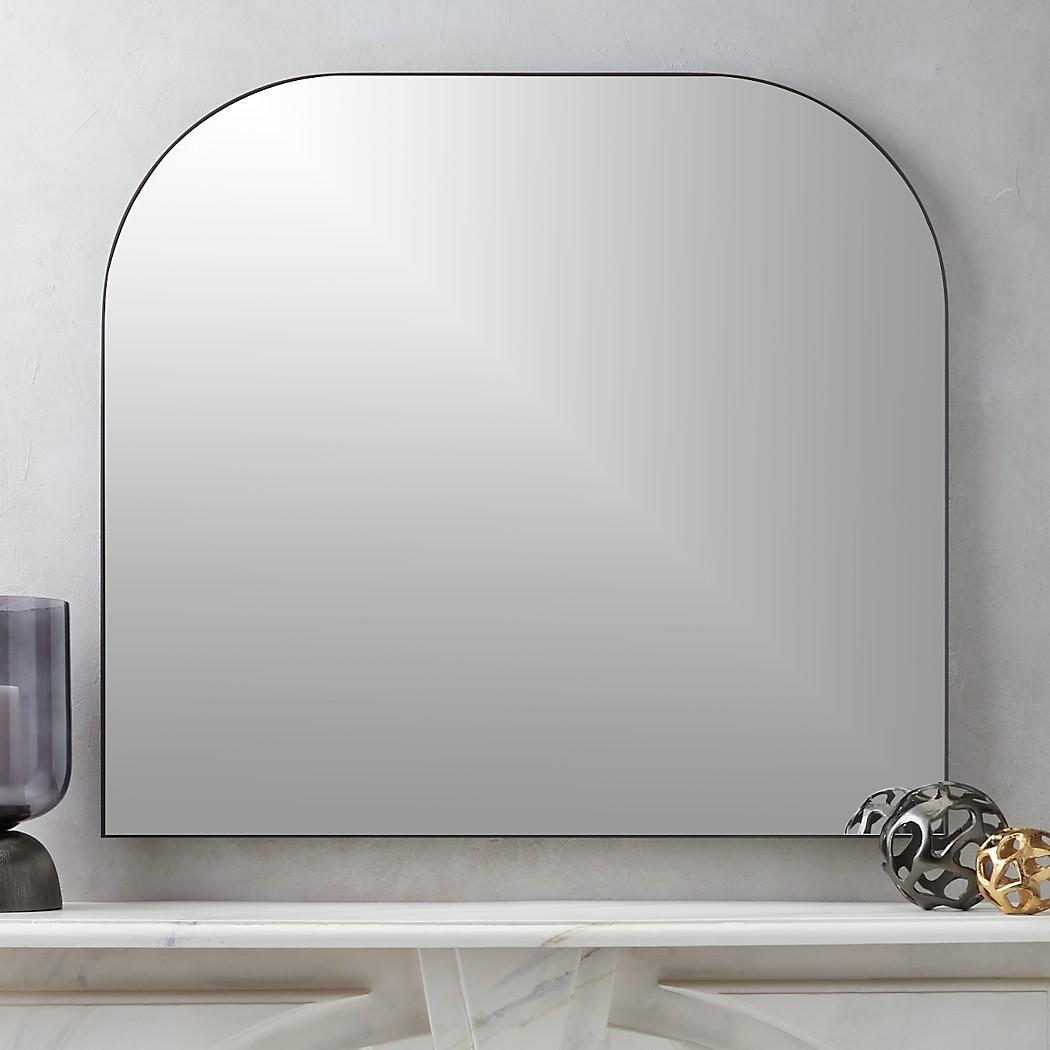 Infinity Black Mantel Mirror + Reviews CB2 Mantel