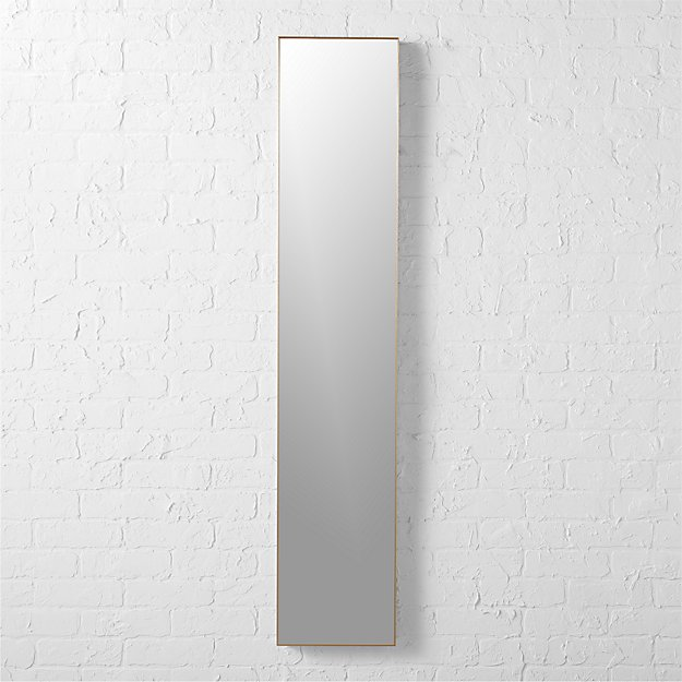 "infinity brass 10.5""x54"" narrow wall mirror"
