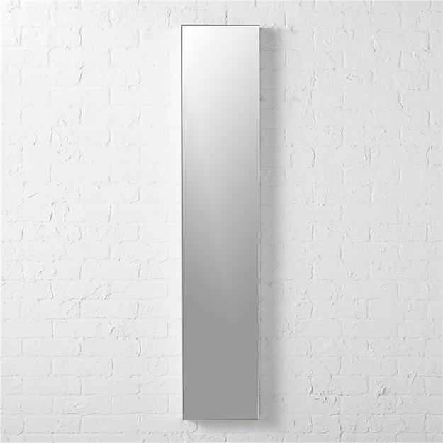Infinity 10 5 x54 narrow wall mirror cb2 for Thin wall mirror