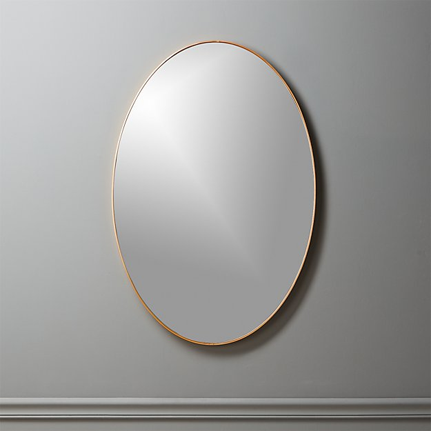 "Oval Wall Mirror infinity brass oval wall mirror 24""x36"" 