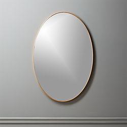 """Infinity Brass Oval Wall Mirror 24""""x36"""""""