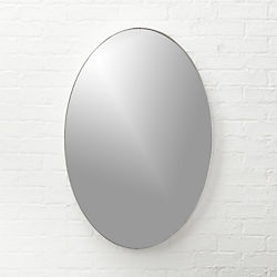 "Infinity Silver Oval Wall Mirror 24""x36"""