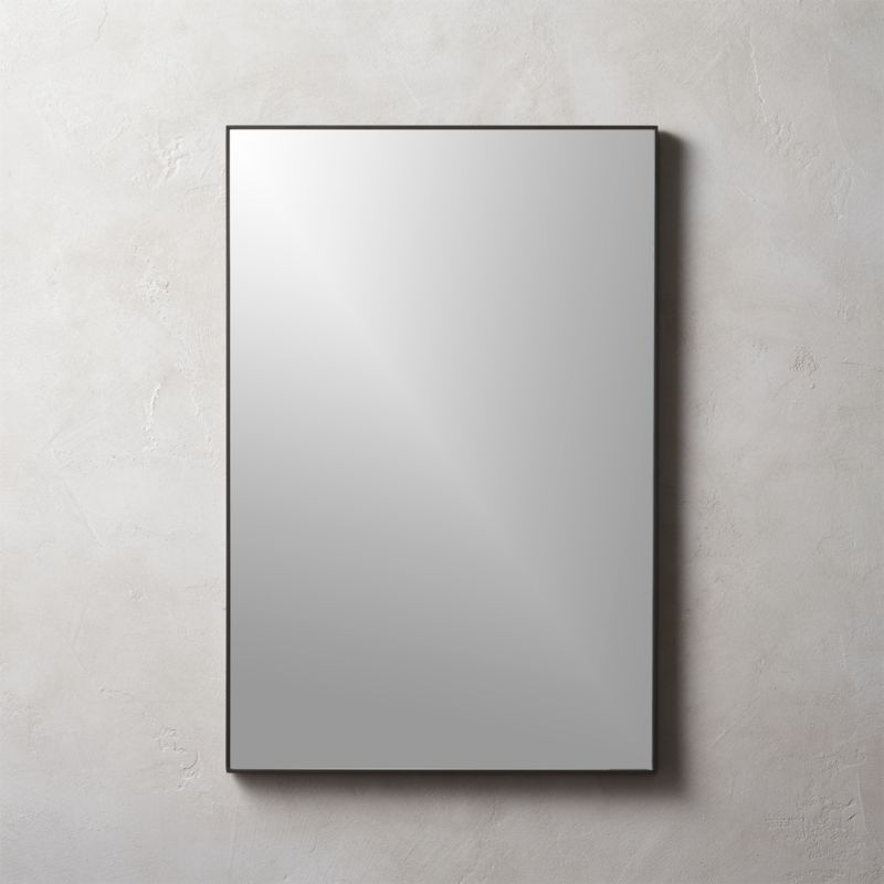 black framed bathroom mirrors infinity black rectangle mirror 24 quot x36 quot reviews cb2 17397