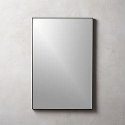 Infinity Black Rectangle Mirror ...