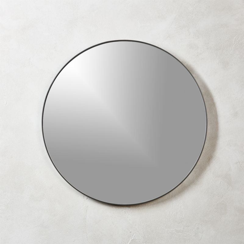 Infinity Black Round Wall Mirror 24 Quot In Mirrors Reviews