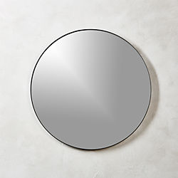 Infinity Black Round Wall Mirror 24""