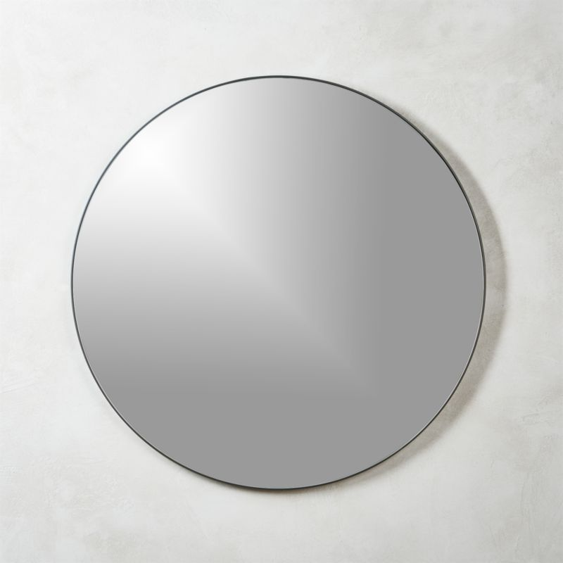 Infinity mirrors cb2 for Round black wall mirror