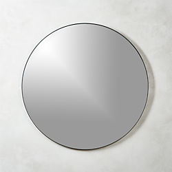 Infinity Black Round Wall Mirror 36""