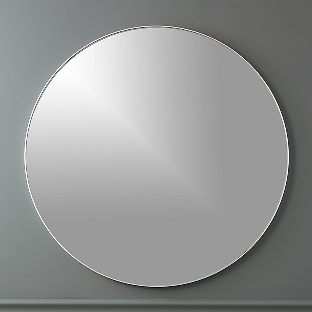 Infinity 36 Quot Round Wall Mirror Cb2