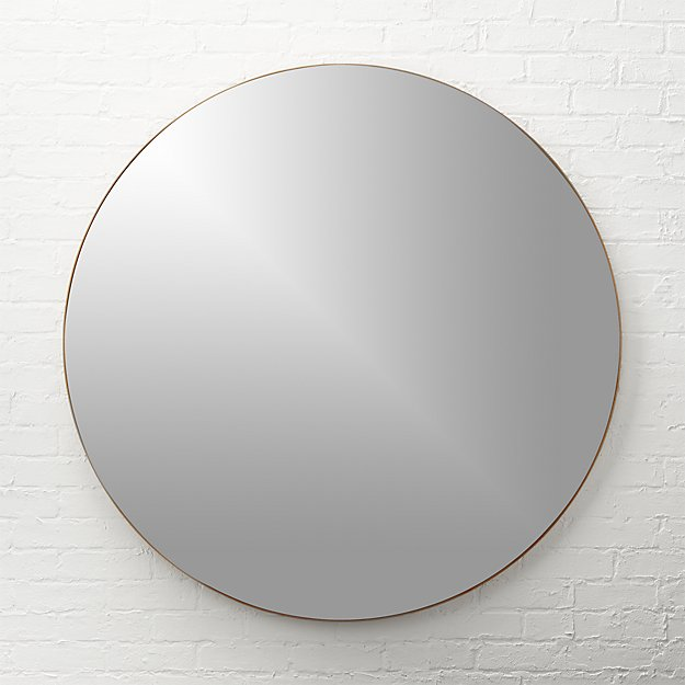 Infinity 48 Quot Round Wall Mirror Cb2