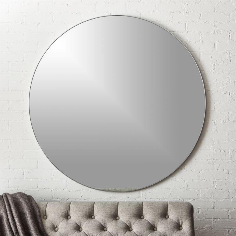 infinity round silver mirror 48