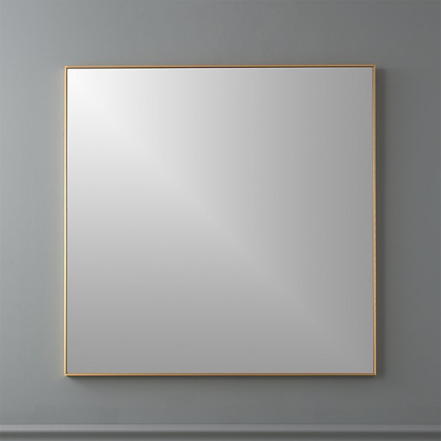"infinity brass 31"" square wall mirror"
