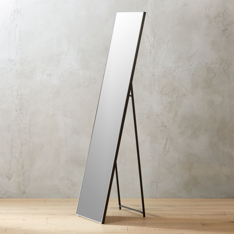 Infinity Black Standing Mirror 16 Quot X69 Quot Reviews Cb2