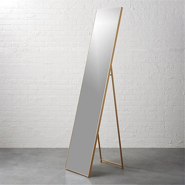 "infinity brass 16""x69"" standing mirror"