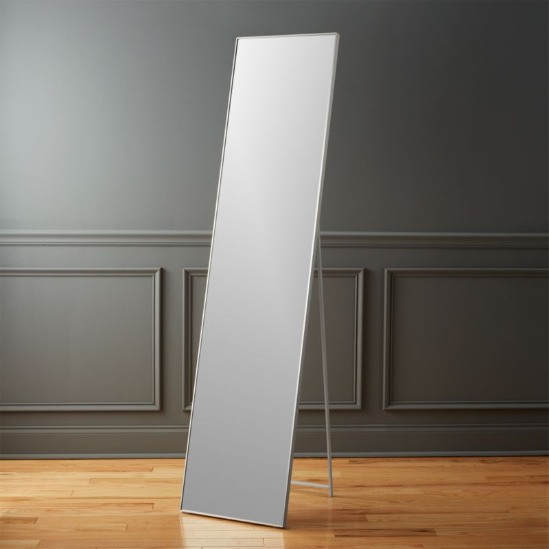 infinity 16u0026quot;x69u0026quot; standing floor mirror : CB2