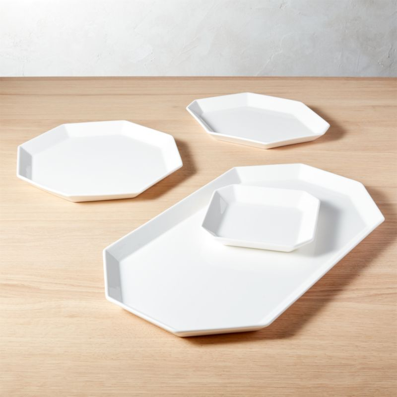 4piece intermix white serving set - Modern Dinnerware