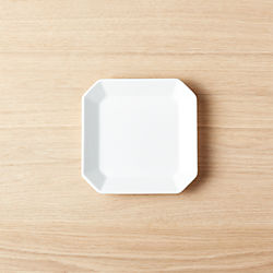 Intermix White Square Appetizer Plate