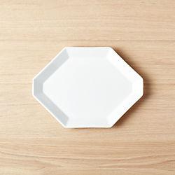 "Intermix White Octagon Plate 9.75""x7"""