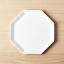 "Intermix White Octagon Plate 9.75""."