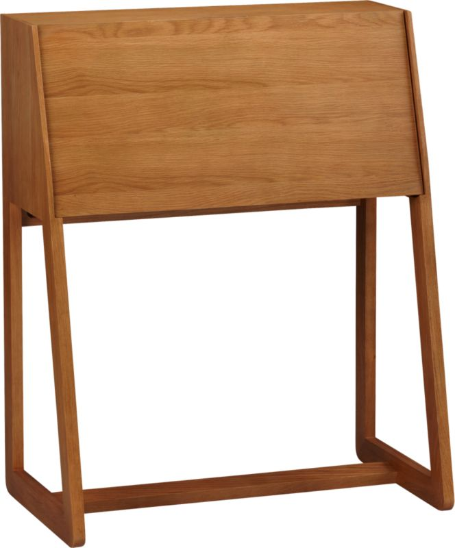 intimo oak secretary desk