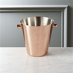iris individual copper ice bucket
