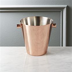 iris individual copper ice bucket
