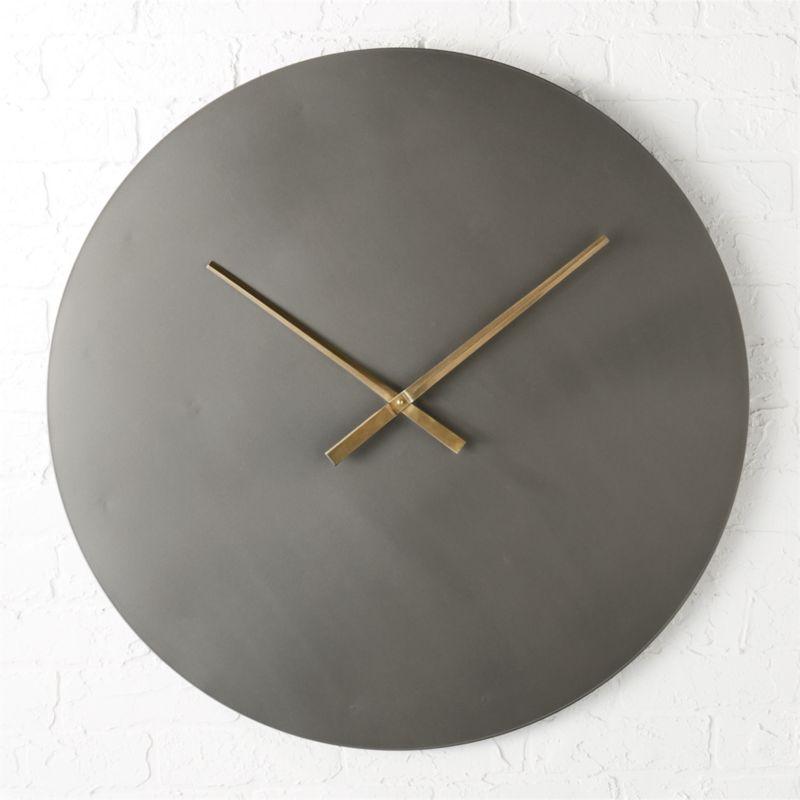 Iron Circle 30 Quot Wall Clock Cb2