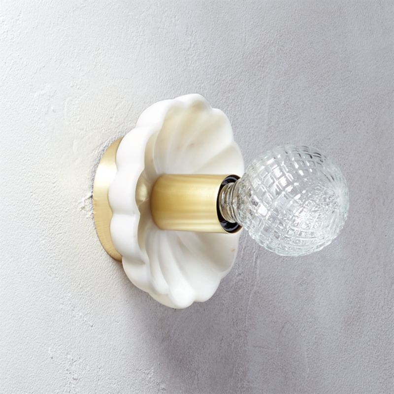 pin it isla marble wall sconce