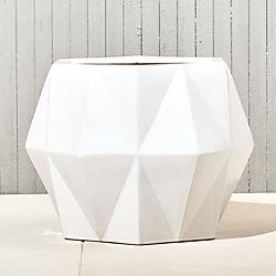 isla large white geometric planter