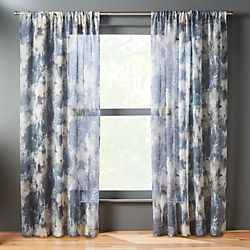 issimo blue curtain panel