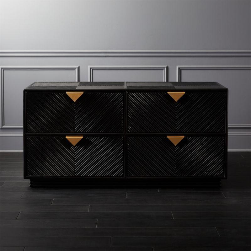 Ivo Low Black Dresser