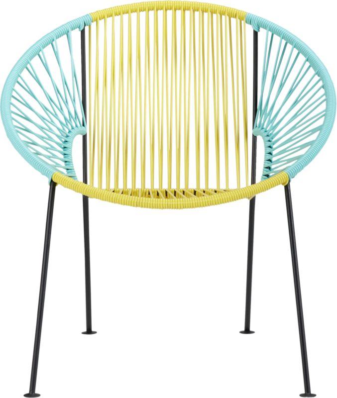 ixtapa yellow/aqua lounge chair