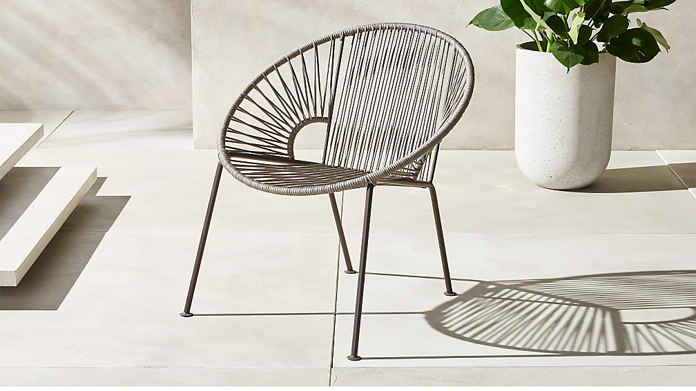Ixtapa Grey Outdoor Lounge Chair Reviews Cb2