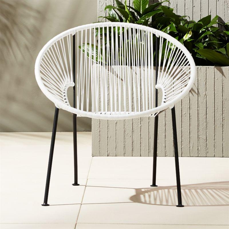 Ixtapa White Pvc Lounge Chair Reviews Cb2