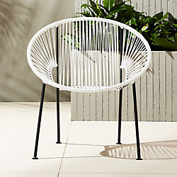ixtapa white lounge chair