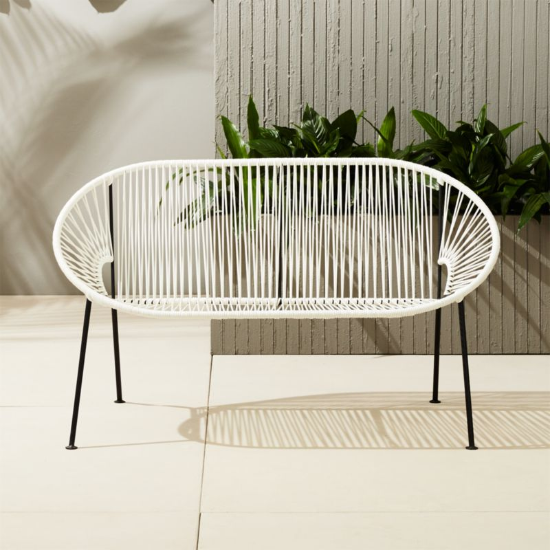Exceptional Ixtapa Loveseat Bench | CB2
