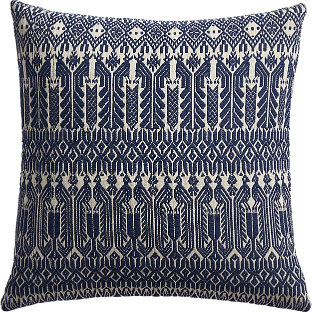 "18"" izel navy fair isle pillow"