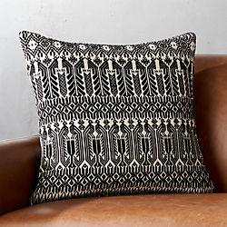"18"" Izel Black and White Fair Isle Pillow with Down-Alternative Insert"