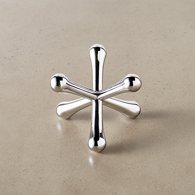 Jacks Silver Ring Holder Cb2