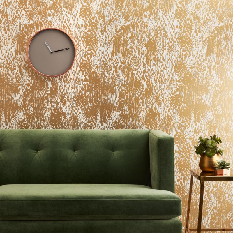 Charming Jackson Gold And Ivory Wallpaper | CB2
