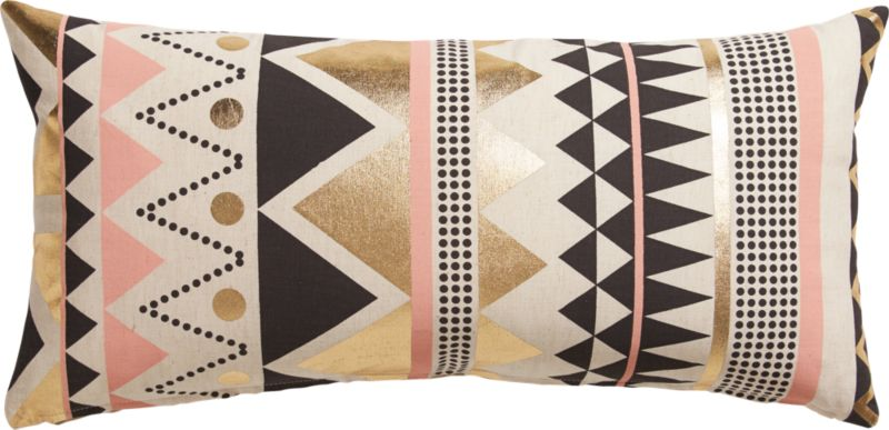 "janey 23""x11"" pillow with feather-down insert"