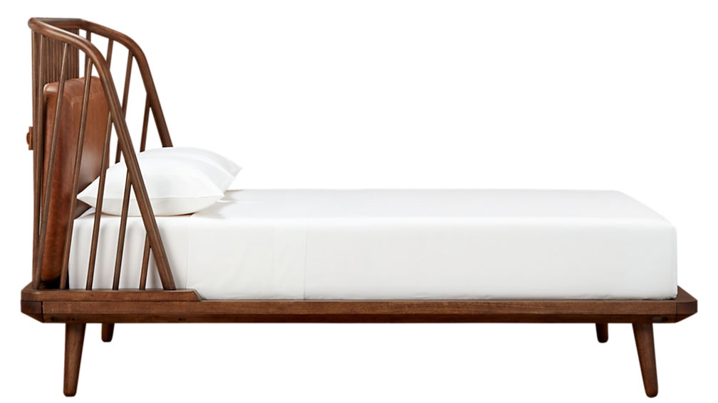 jarvis king bed with leather pad