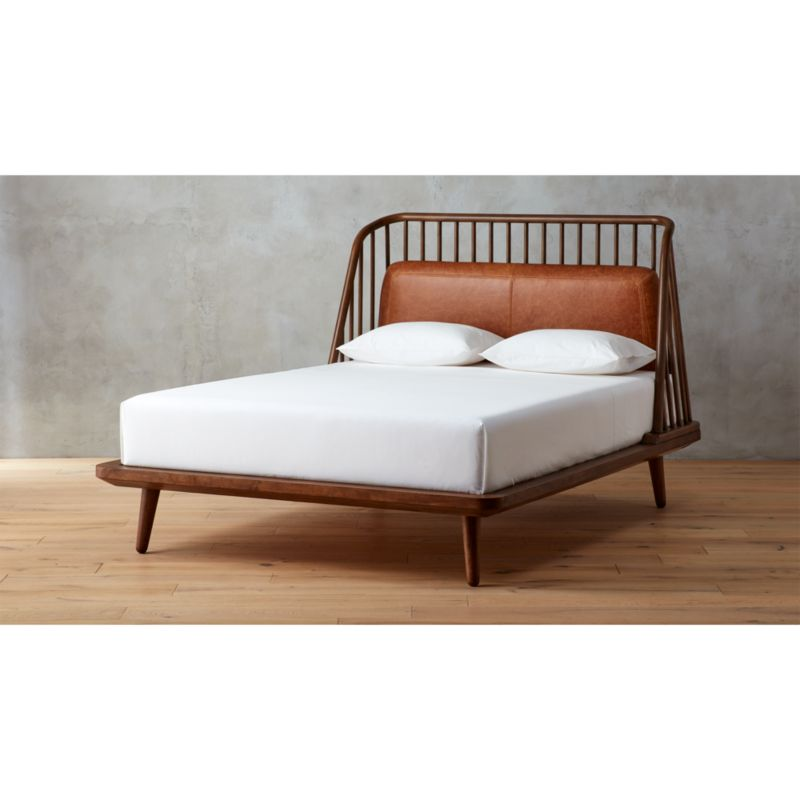 pin it jarvis bed with leather pad - Unique Bed Frame