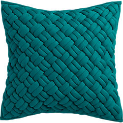"20"" jersey interknit green pillow"