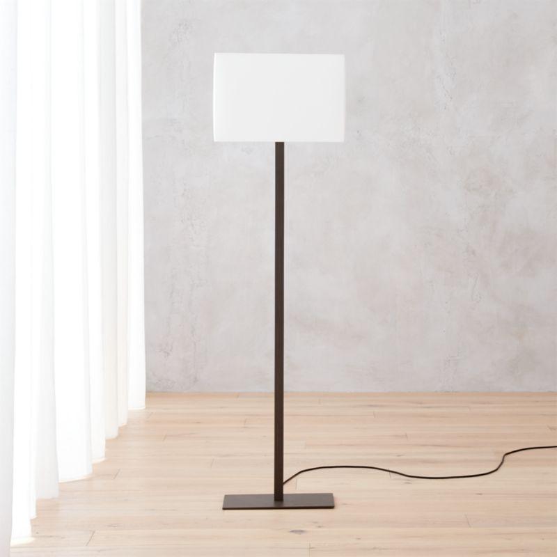 John floor lamp reviews cb2 for Cb2 lamp pool floor lamp